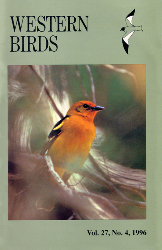 Western Birds Vol. 27, No. 4, 1996