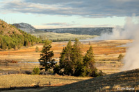 Firehole Valley smoke and snow